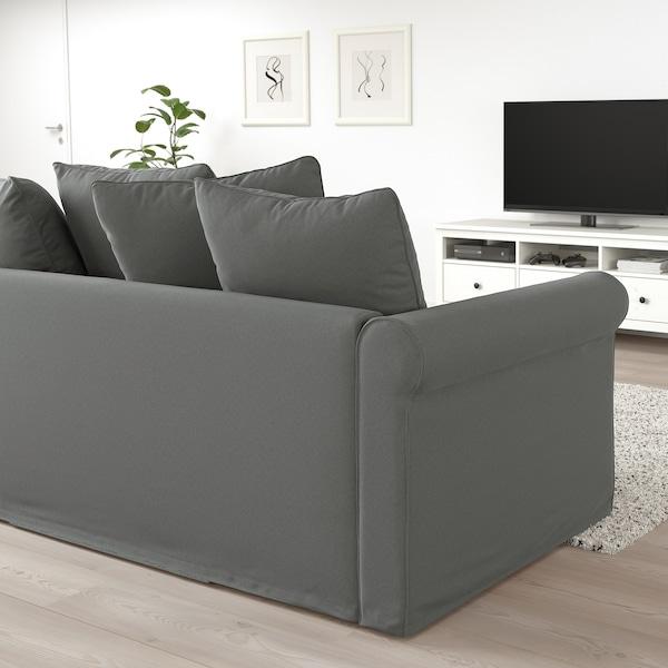 GRÖNLID Canapea 4 locuri cu şezlong, Ljungen gri mediu