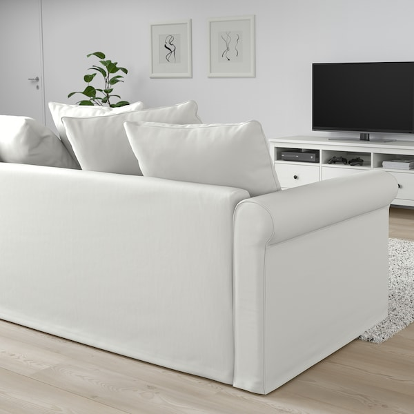 GRÖNLID Colţar 5 locuri cu şezlong, Inseros alb