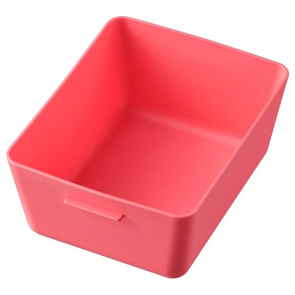 GRUNDVATTNET cutie roşu deschis 16.8 cm 13.7 cm 7.8 cm