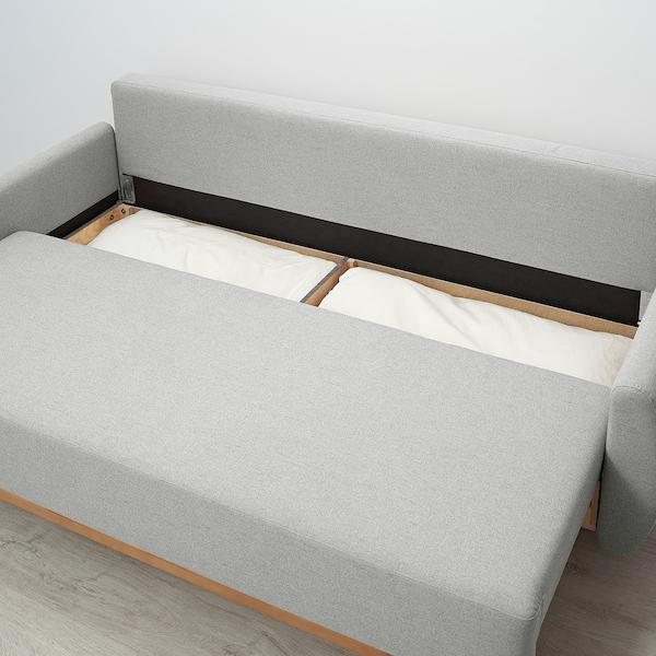GRUNNARP Canapea extensibilă 3 locuri, gri