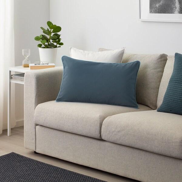 GULLINGEN Faţă pernă, interior/exterior/albastru inchis, 40x65 cm