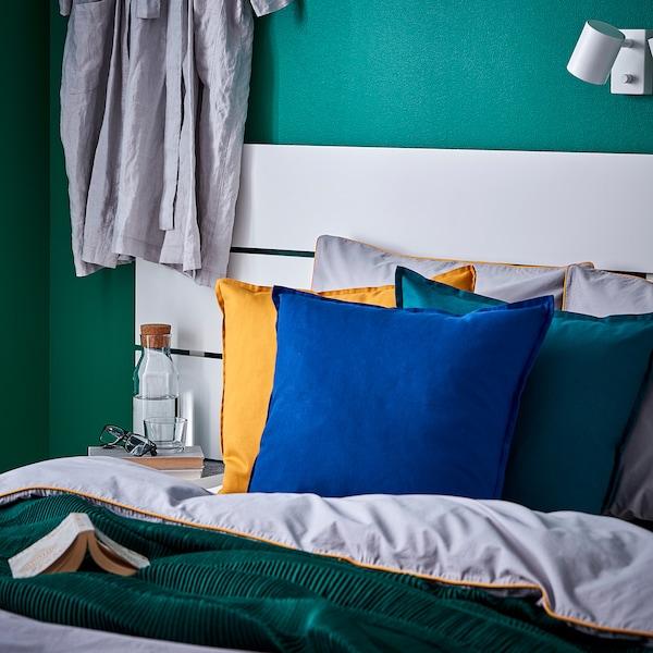 GURLI Faţă pernă, verde închis, 50x50 cm