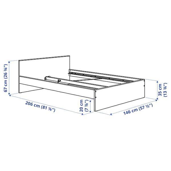 GURSKEN Cadru pat+tăblie, bej deschis/Luröy, 140x200 cm