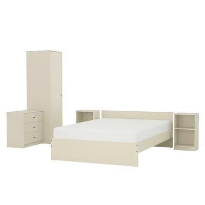 GURSKEN Mobilier dormitor, set 5 piese, bej deschis