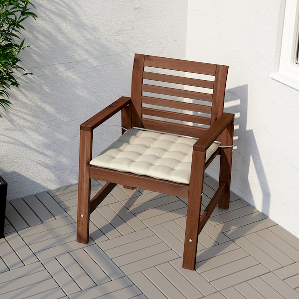 HÅLLÖ Pernă scaun exterior, bej, 50x50 cm