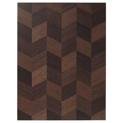 HASSLARP Uşă, maro cu model, 60x80 cm