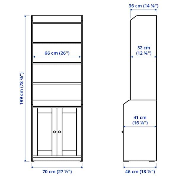 HAUGA Corp înalt cu 2 uși, gri, 70x199 cm