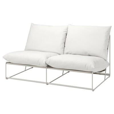HAVSTEN Canapea 2 locuri, interior/exterior, fără braţe/bej, 164x94x90 cm