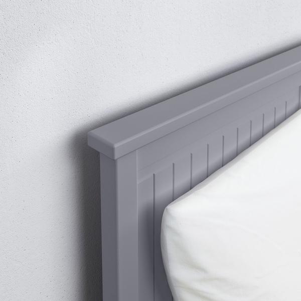 HEMNES Cadru divan cu 3 sertare, gri, 80x200 cm