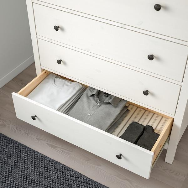 HEMNES Comodă 6 sertare, vopsit alb, 108x131 cm