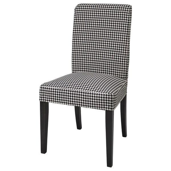 HENRIKSDAL Husă scaun, Vibberbo negru/bej