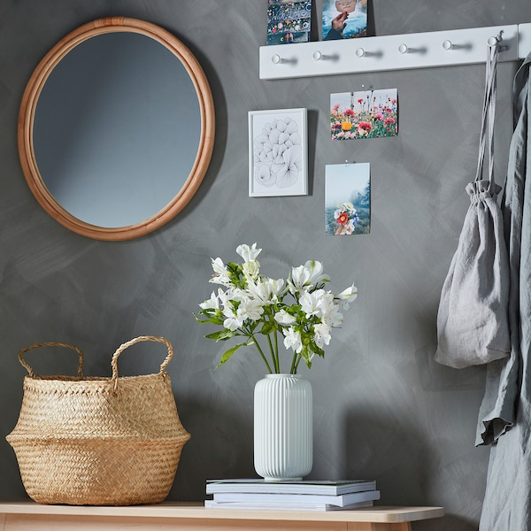 HINDÅS Oglindă, ratan, 50 cm