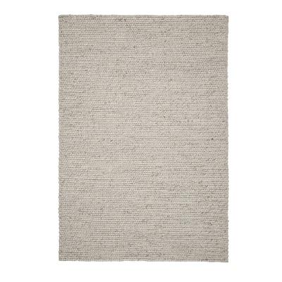HJORTSVANG Covor, manual/alb, 160x230 cm