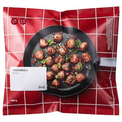 HUVUDROLL Chifteluţe cu carne de vită și porc, congelat, 1000 g