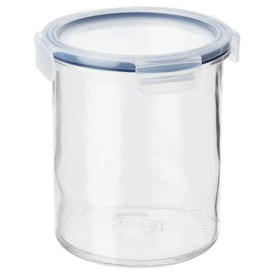 IKEA 365+ Borcan cu capac, sticlă/plastic, 1.7 l