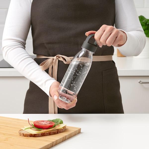 IKEA 365+ Sticlă de apă, gri închis, 0.5 l
