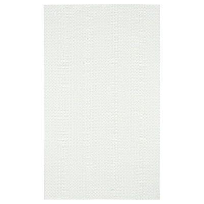 INBJUDEN Faţă de masă, alb/verde, 145x240 cm