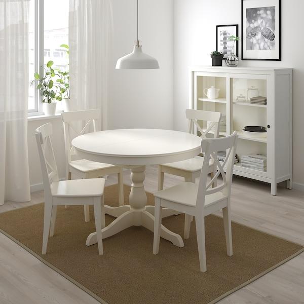 INGATORP Masă extensibilă, alb, 110/155 cm