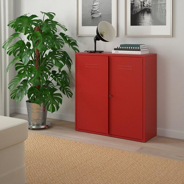 IVAR corp cu uşi roşu 80 cm 30 cm 83 cm 25 kg