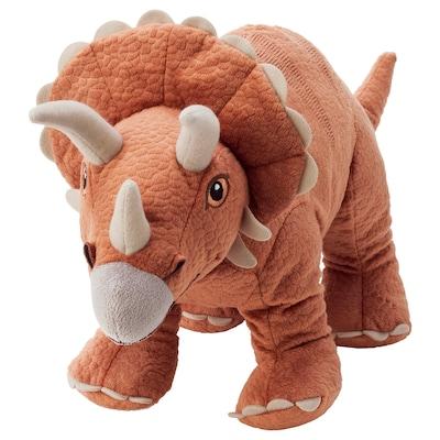 JÄTTELIK Jucărie de pluş, dinozaur/dinozaur/triceratops, 46 cm