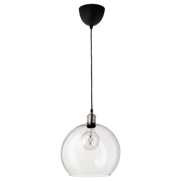 JAKOBSBYN Abajur lustră, sticlă transparentă, 30 cm