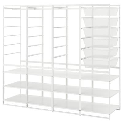 JONAXEL Combinaţie dulap, alb, 198x51x173 cm