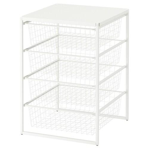 IKEA JONAXEL Cadru/coşuri metal/poliţă superior