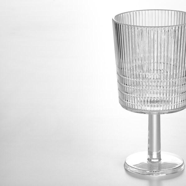 KALLSINNIG Pahar vin, transparent plastic, 32 cl