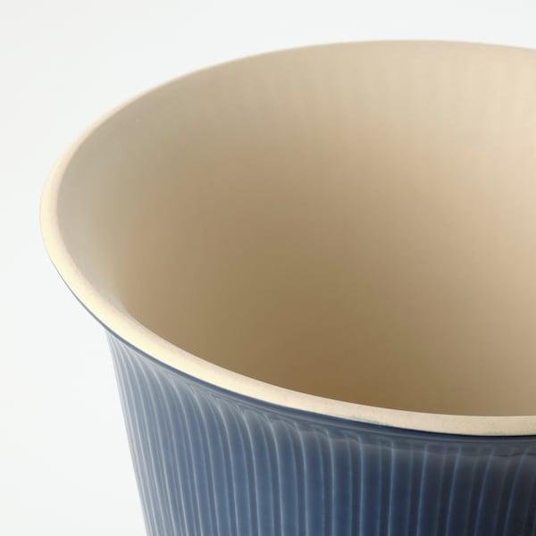 KAMOMILL Ghiveci, interior/exterior albastru, 19 cm