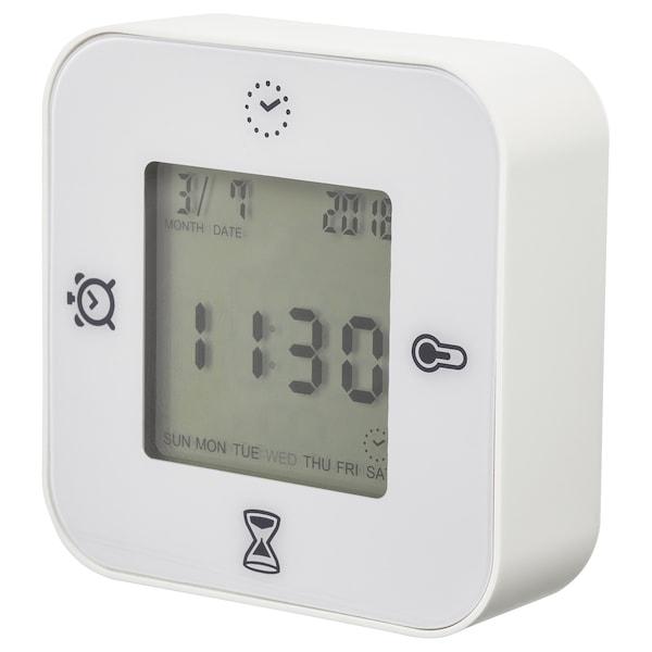 KLOCKIS Ceas/termometru/alarmă/temporizator, alb