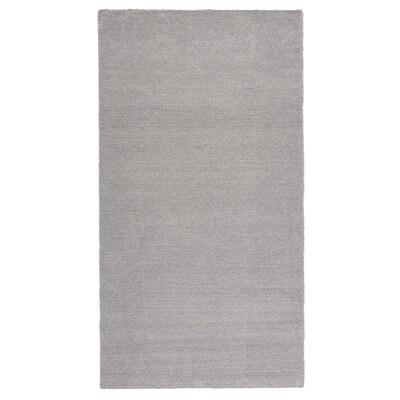 KNARDRUP Covor, fir scurt, gri, 80x150 cm