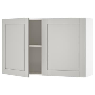 KNOXHULT Corp suspendat cu uşi, gri, 120x75 cm