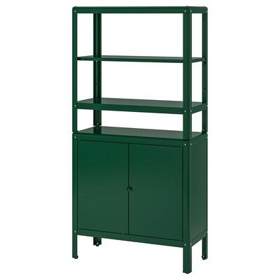 KOLBJÖRN Etajeră/corp, verde, 80x37x161 cm