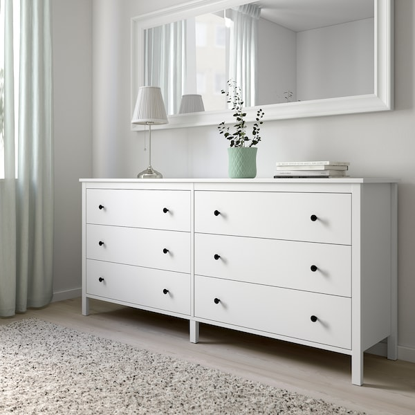 KOPPANG Comodă 6 sertare, alb, 172x83 cm