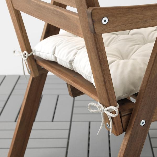 KUDDARNA Pernă scaun exterior, bej, 44x44 cm