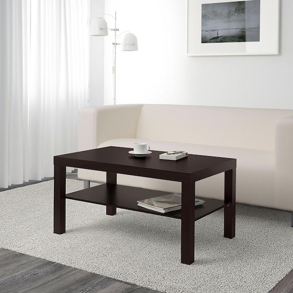 LACK Măsuţă cafea, negru-maro, 90x55 cm