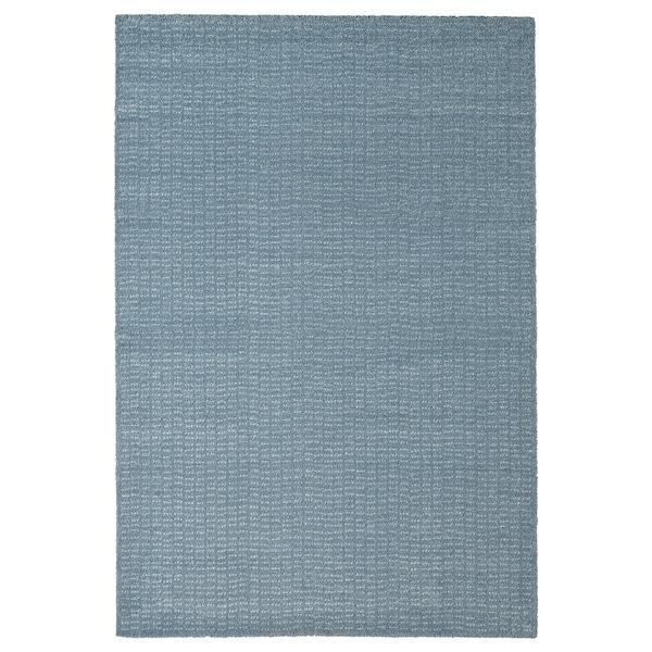 LANGSTED Covor, fir scurt, bleu, 133x195 cm