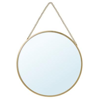 LASSBYN Oglindă, auriu, 25 cm