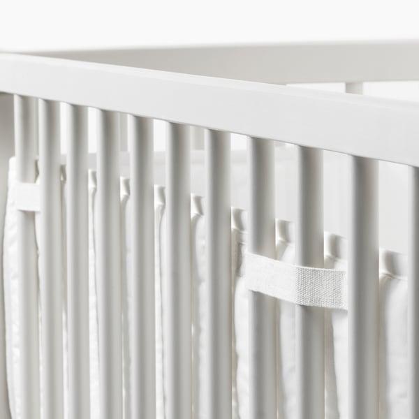 LEN protecţie pătuţ alb 120 cm 60 cm 220 g