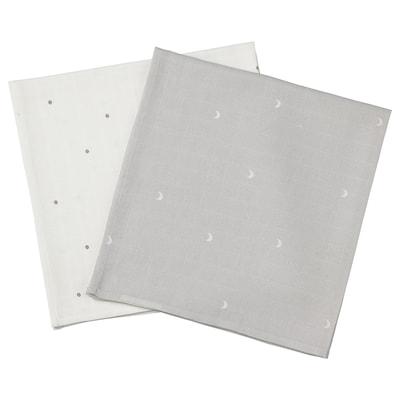 LEN Scutec de muselină, buline/lună, 70x70 cm