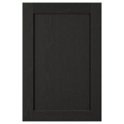 LERHYTTAN Uşă, vopsit negru, 40x60 cm