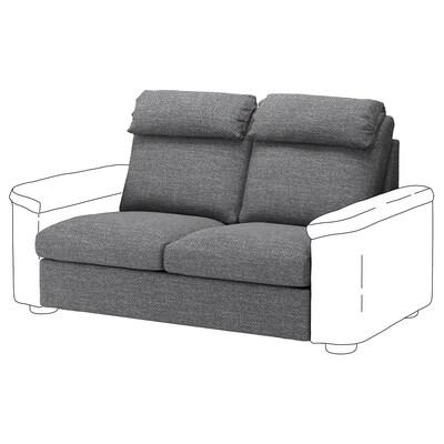 LIDHULT Canapea 2 locuri+secţiune pat, Lejde gri/negru