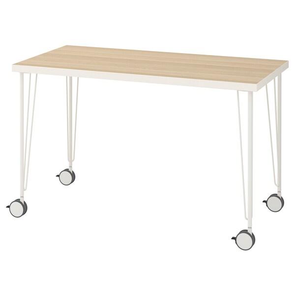 LINNMON / KRILLE masă alb aspect stejar antichizat/alb 120 cm 60 cm 74 cm 50 kg