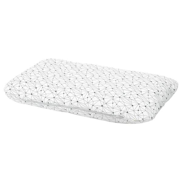 LURVIG pernă alb/negru 100 cm 62 cm 14.0 cm 1200 g 1785 g