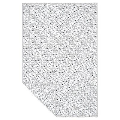 LURVIG Pătură, alb/negru, 100x150 cm