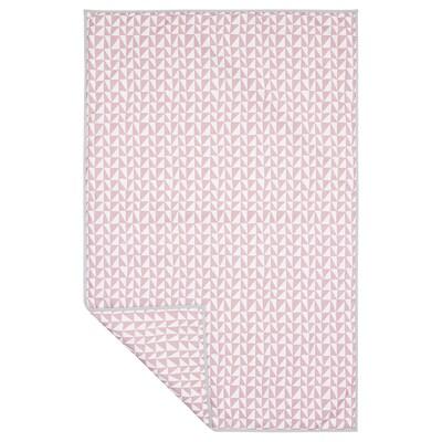 LURVIG Pătură, roz/triunghi, 100x150 cm