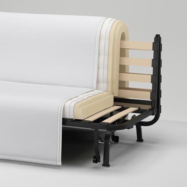 LYCKSELE HÅVET Canapea extensibilă 2 locuri, Ransta alb