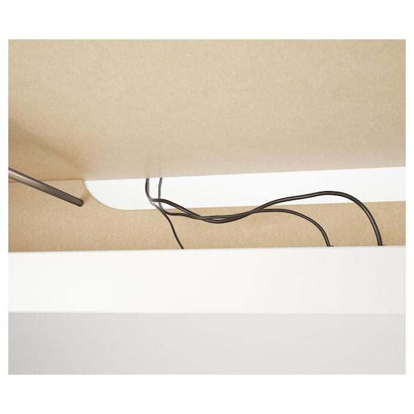 MALM Birou cu tăblie culisantă, alb, 151x65 cm