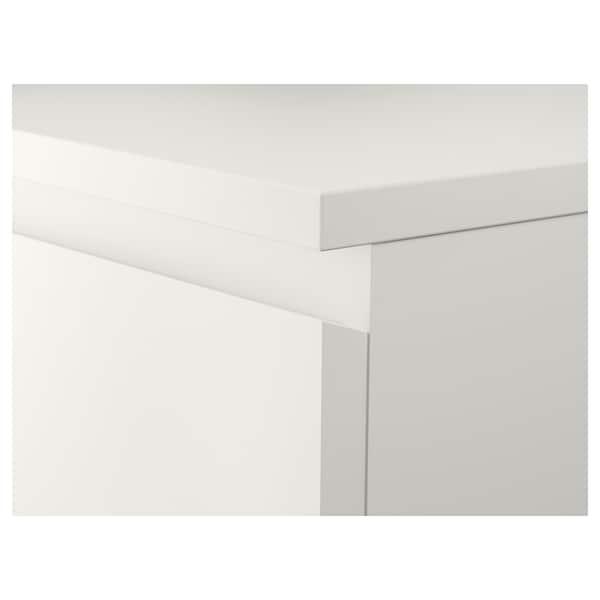 MALM Comodă 6 sertare, alb/oglindă, 40x123 cm