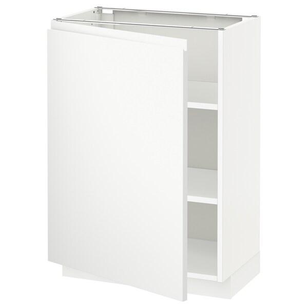 METOD Corp bază cu poliţe, alb/Voxtorp alb mat, 60x37 cm